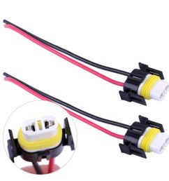vehicle parts accessories car parts 2 dc 12v h11 headlight bulb male wire harness  [ 1110 x 1110 Pixel ]