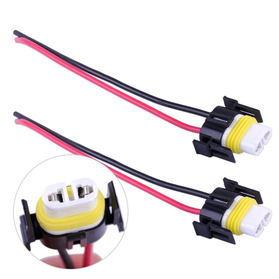 hight resolution of vehicle parts accessories car parts 2 dc 12v h11 headlight bulb male wire harness