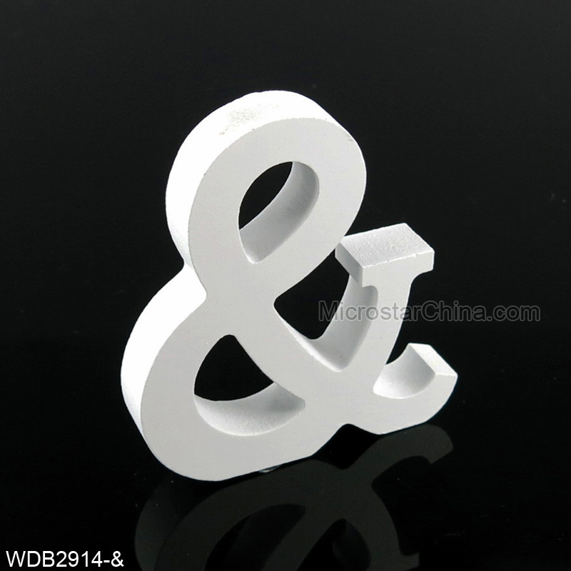 8cm Height I Love You Wedding Decorative Letters Free Standing