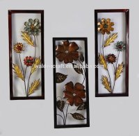 Metal Floral Wall Art For Home And Office Decor Framed