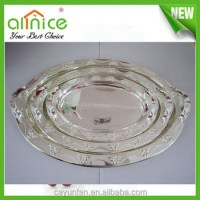 Decorative White Antique Metal Serving Tray With Silver ...