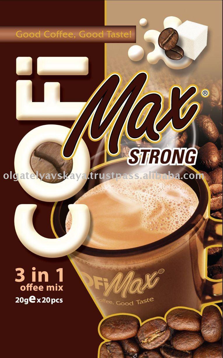 Campuran kopi instan 3 in 1-CofiMax Kuat-produk BARU-Kopi