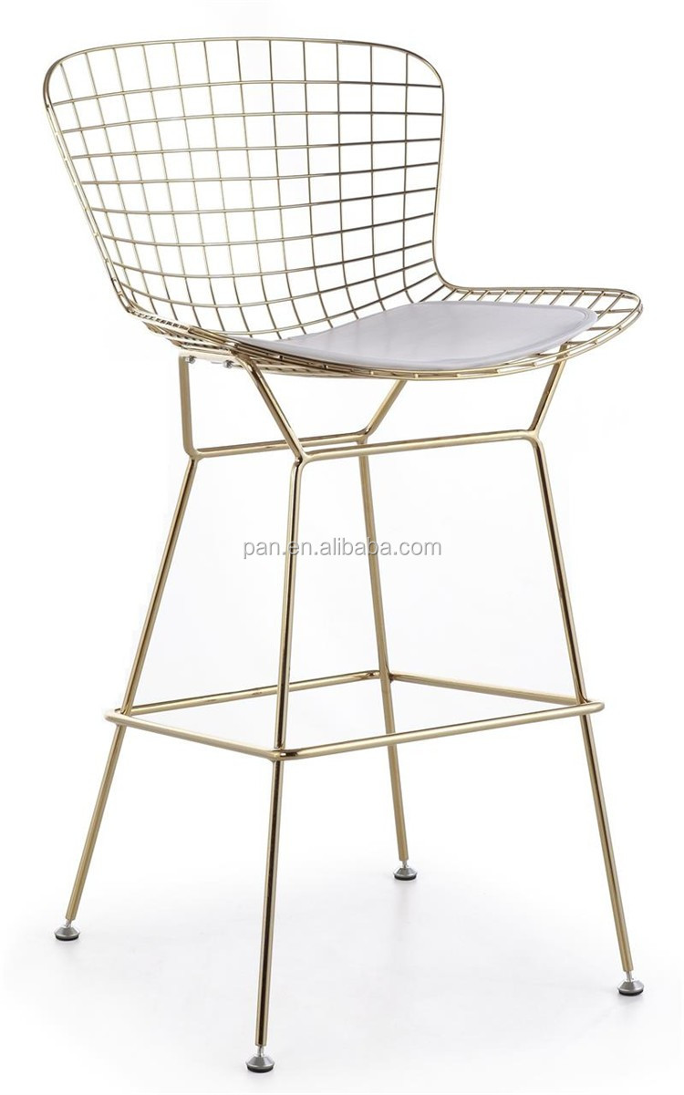 bertoia wire chair original universal covers canada replica design mid century knoll golden harry counter bar stool