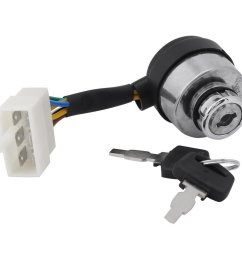 key switch of 6 wire ignition start for 2 5 6 5kw 188f gas generator [ 1001 x 1001 Pixel ]