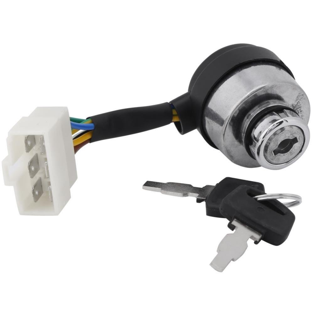 medium resolution of key switch of 6 wire ignition start for 2 5 6 5kw 188f gas generator