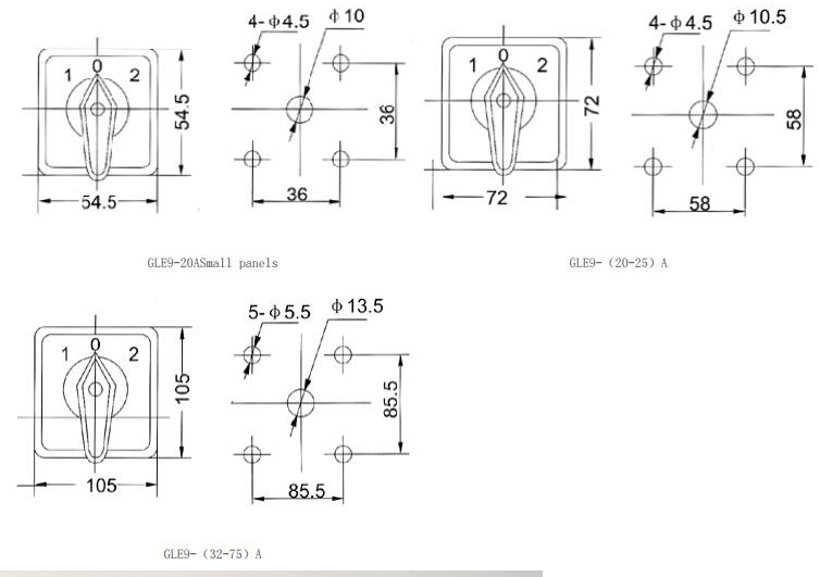 Manual Changeover Switch Ammeter And Voltmeter E9 Symbol