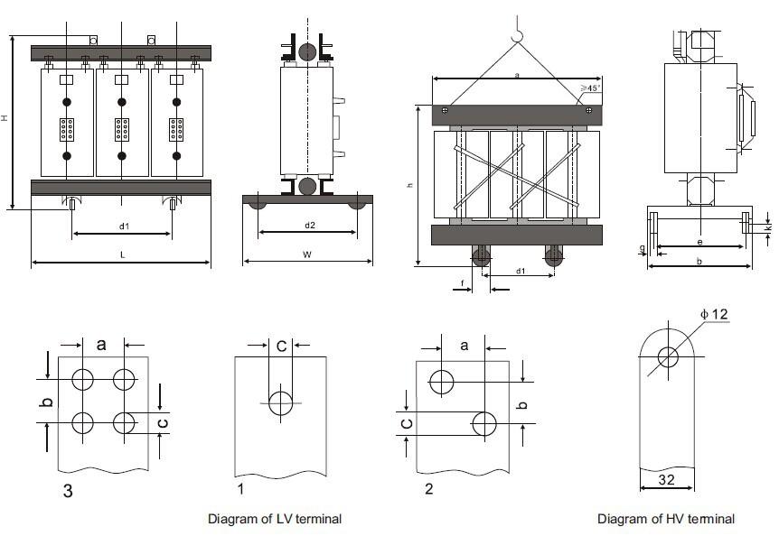 Sc(b),Sg(b) 11kv 500kva Power Distribution Transformer