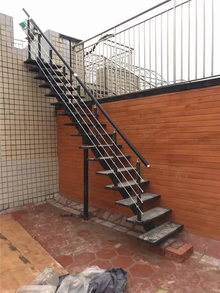 Outdoor Wrought Iron Steel Straight Staircase Price Black Steel | Iron Stairs Design Outdoor | Victorian | Curved Staircase Carpet | Cast Iron | Baluster Curved Stylish Overview Stair | Build Outdoor Stair
