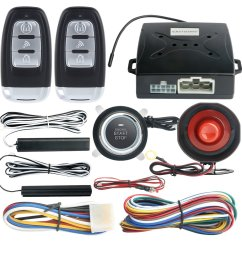 easyguard ec003 smart key pke passive keyless entry car alarm system engine start button remote engine [ 1001 x 1001 Pixel ]