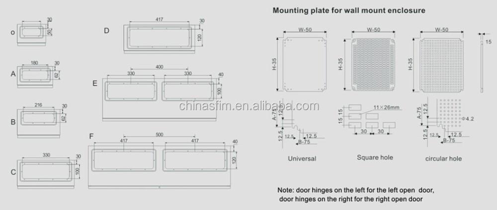 Tibox Electrical Panel Box Steel Wall Mount Distribution Panel