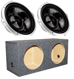 2 vm audio srw12 12 1000w subwoofers q power dual sealed sub box enclosure [ 1500 x 1500 Pixel ]