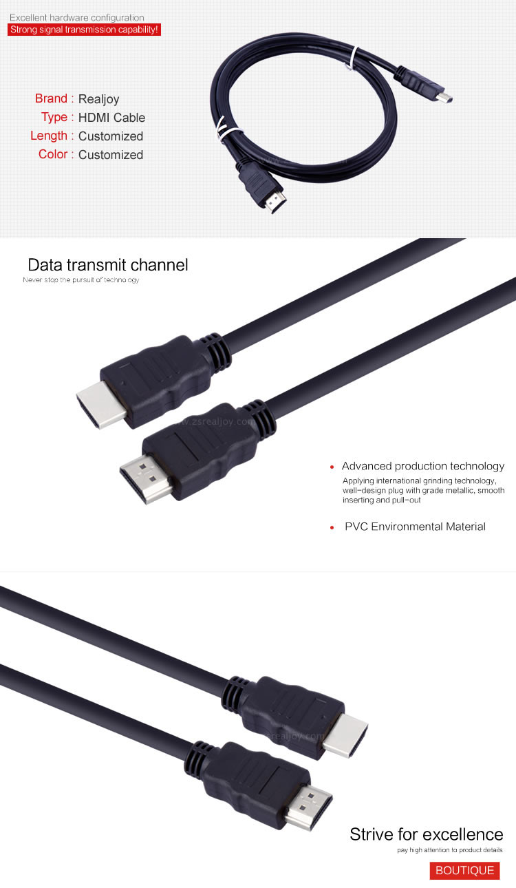 China 1.5m Factory Price 1.4 Version Hdmi To Hdmi Adapter