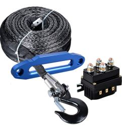 get quotations astra depot 95ft x 3 8 synthetic winch rope cable black hook 10 [ 1000 x 1000 Pixel ]