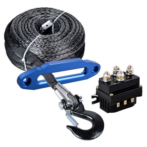small resolution of get quotations astra depot 95ft x 3 8 synthetic winch rope cable black hook 10