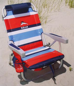 backpack cooler beach chair office headrest attachment india sunset portable storage pouch with towel bar