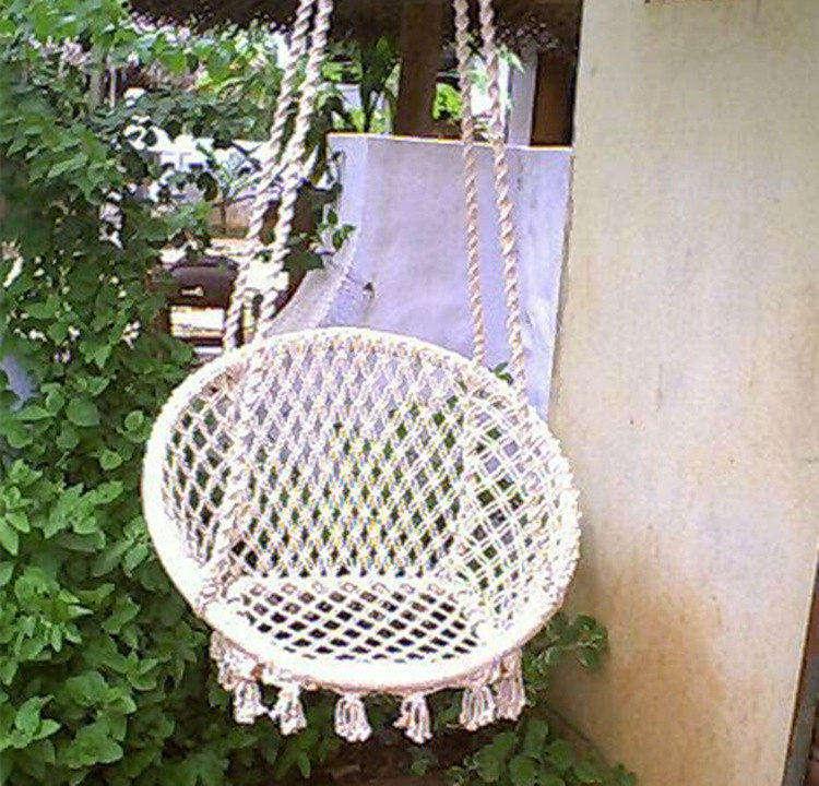Hanging Rope Round Hammock Swing Chair