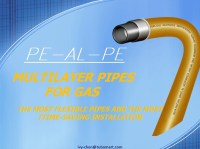 Yellow Flexible Gas Pipe Pe-al-pe Multilayer For Gas ...