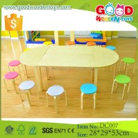 High Quality Wood Preschool Kids Baby Cartoon Table And ...