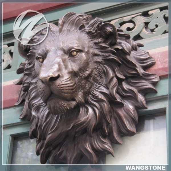Bronze Lion Head Indoor Decor Sculpture