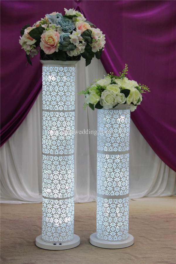 How To Make Diy Lighted Wedding Columns.Diy Lighted Wedding Columns Year Of Clean Water
