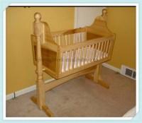 Wood Baby Cradle,Wooden Baby Swing Cradle,Baby Wood Cradle ...