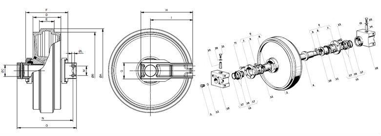 Bulldozer(dozer) / Crawler Crane Undercarriage Spare Parts
