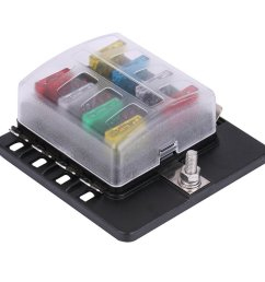 8 way fuse box block circuit car trailer auto blade fuse block holder dc 12v 24v 32v atc ato 2 input 8 ouput wire terminal box [ 1001 x 1001 Pixel ]
