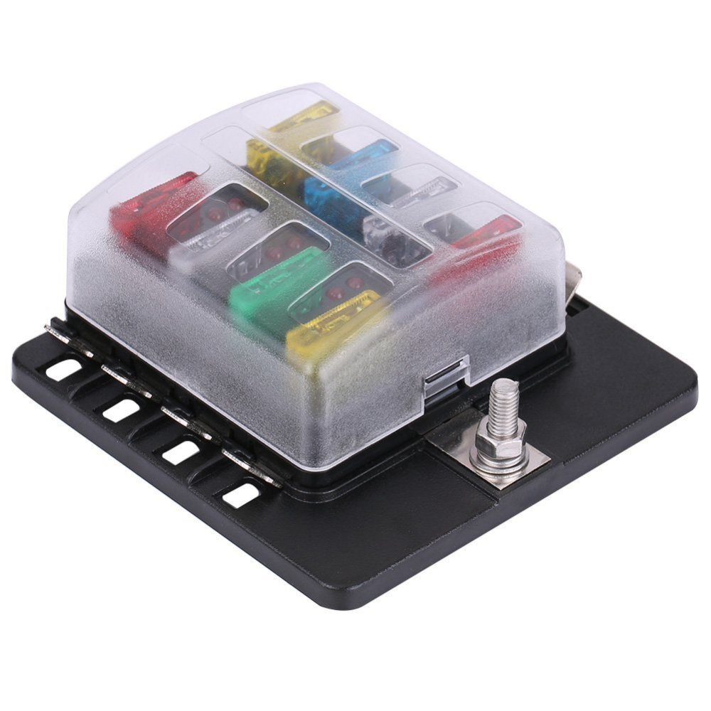 medium resolution of 8 way fuse box block circuit car trailer auto blade fuse block holder dc 12v 24v 32v atc ato 2 input 8 ouput wire terminal box