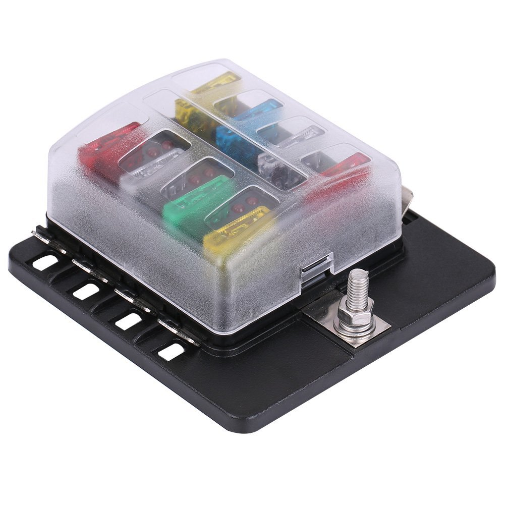 hight resolution of 8 way fuse box block circuit car trailer auto blade fuse block holder dc 12v 24v 32v atc ato 2 input 8 ouput wire terminal box