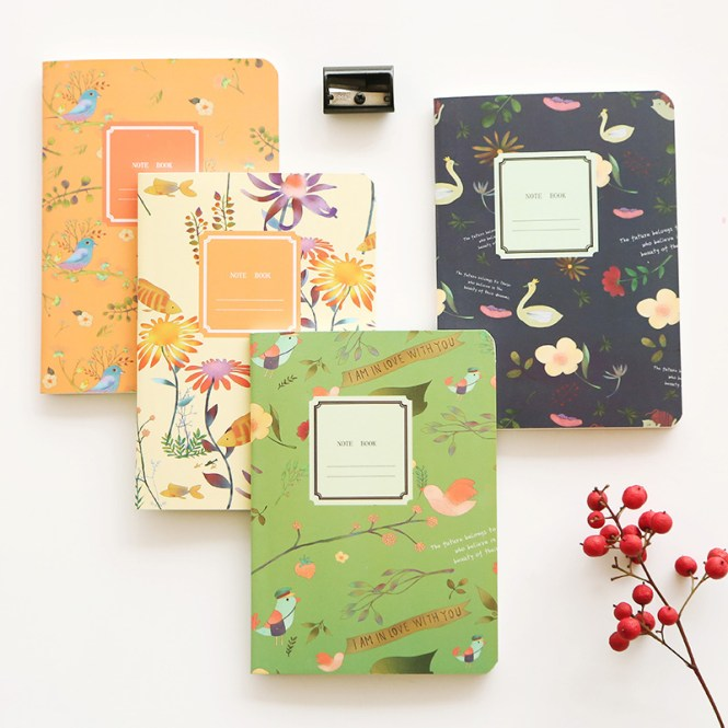 Cute Animal Decorative Mini Planner Travel School Portable Daily Notebook 180 Sheets Color Inner Page Pocket Word Book Notepad