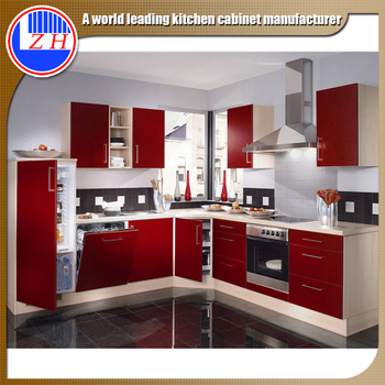 Factory Price High Gloss Finish Red Kitchen Cabinet Laminate Sheet