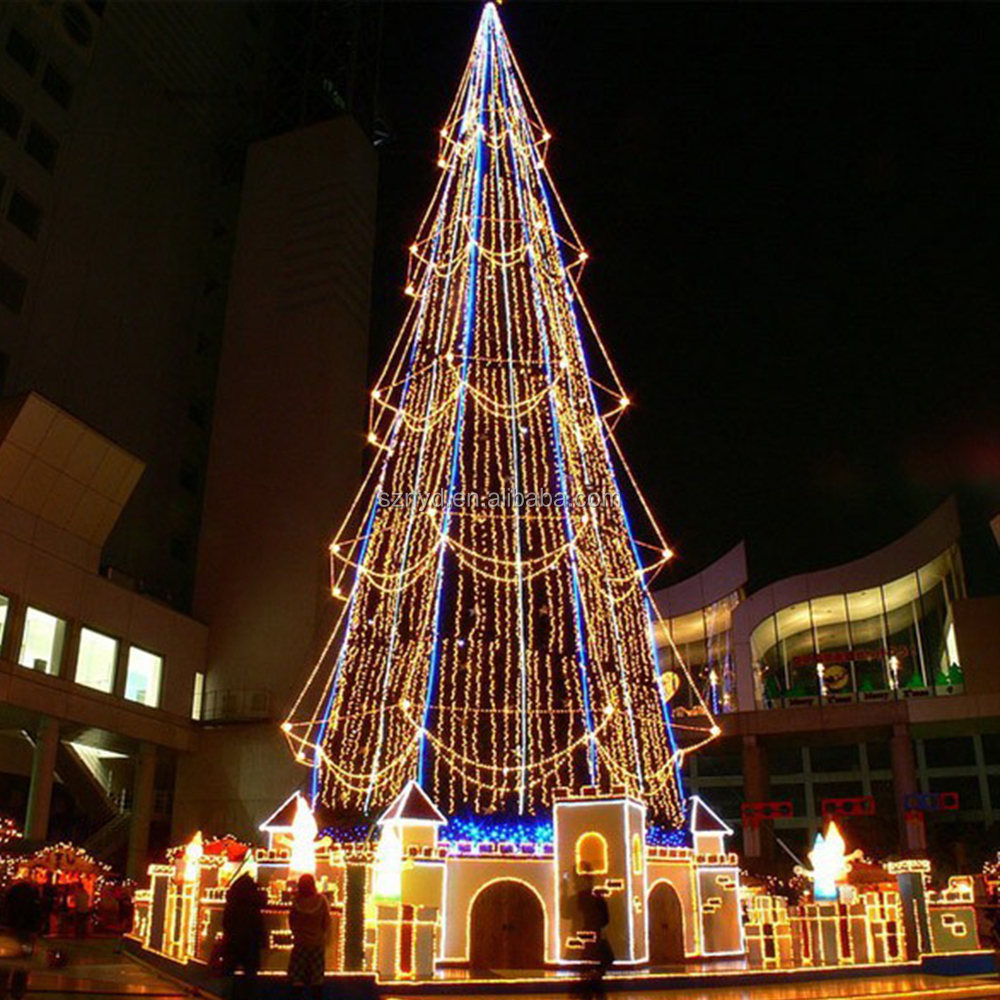 Outdoor Led Christmas Tree Lighted Christmas Cone Tree