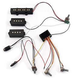 get quotations homyl 1 set 3 band wiring harness amp eq preamp equalizer pickup for jazz bass  [ 1024 x 1024 Pixel ]