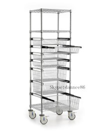 Wire Shelving Trolley With Sliding Wire Basket - Buy ...