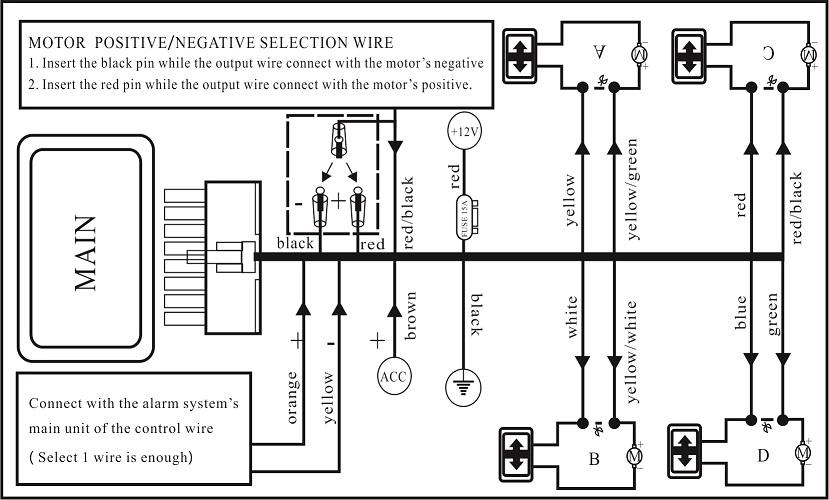 Universal Power Window Switch For 2/4 Doors Power Window