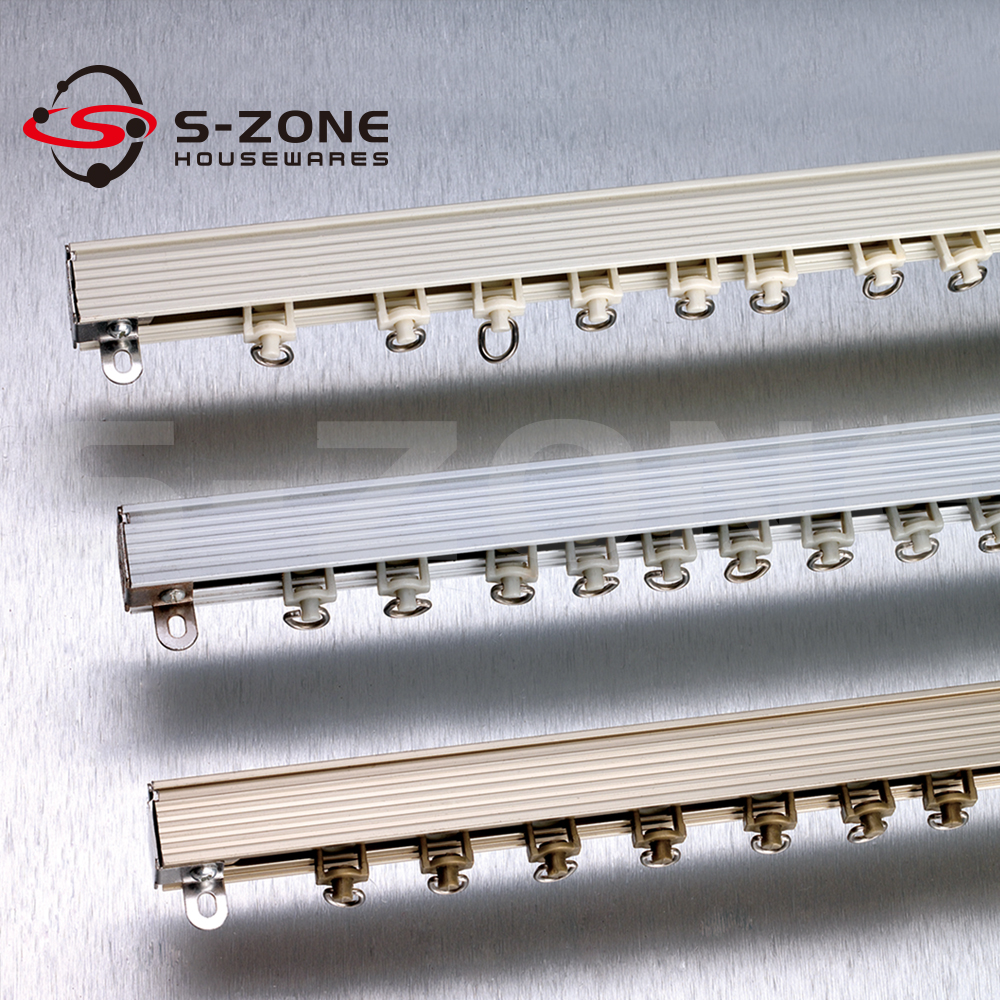 Sliding Rail Ceiling Mounted Curtain Track System Ceiling Drapery