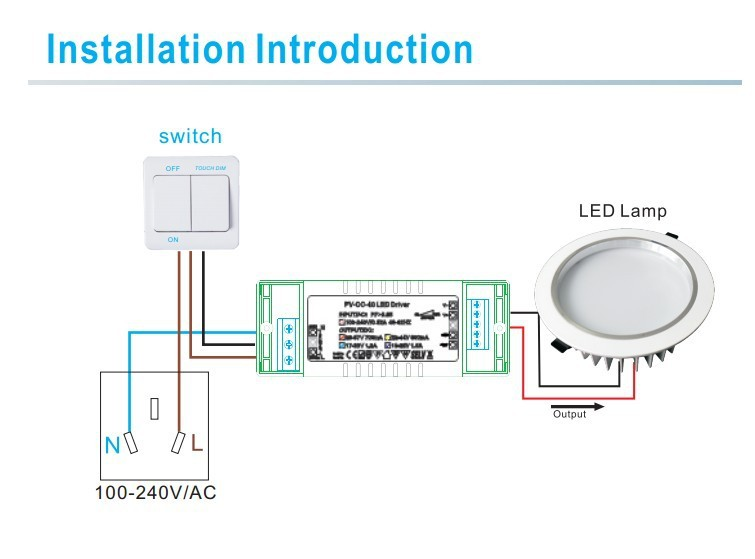 led dimming ballast wiring diagram vacuum for 1970 chevelle transformer dimmer great installation of waterproof 100w 12v 24v push driver rh alibaba com switch diagrams