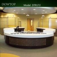 High End Round Reception Desk Reception Furniture Design ...
