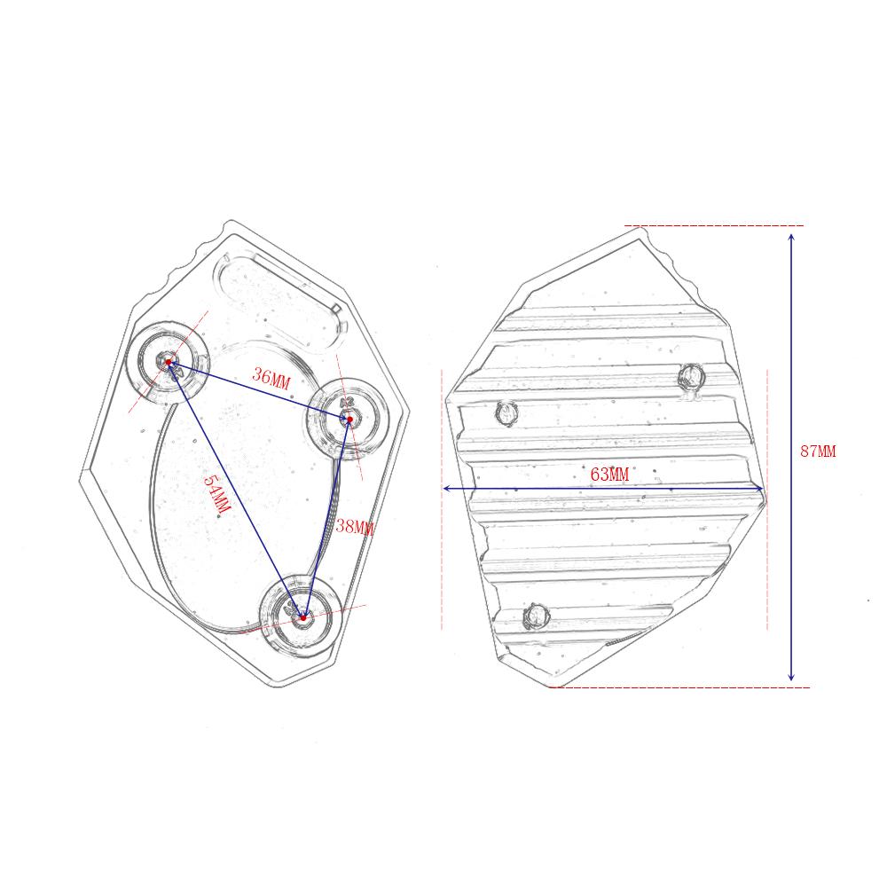 Motocicleta CNC lado ampliar soporte para KAWASAKI
