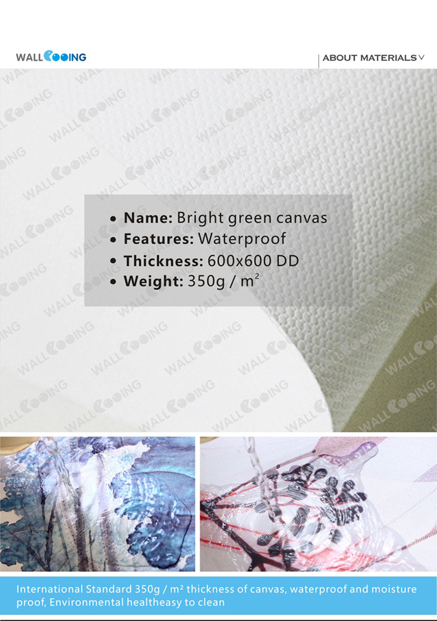 4-1 Waterproof canvas and material description