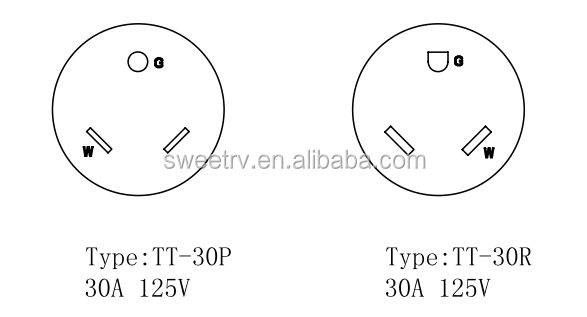 30-3030 Us Y Adapter Cord With 30a Male Plug To Double 30a