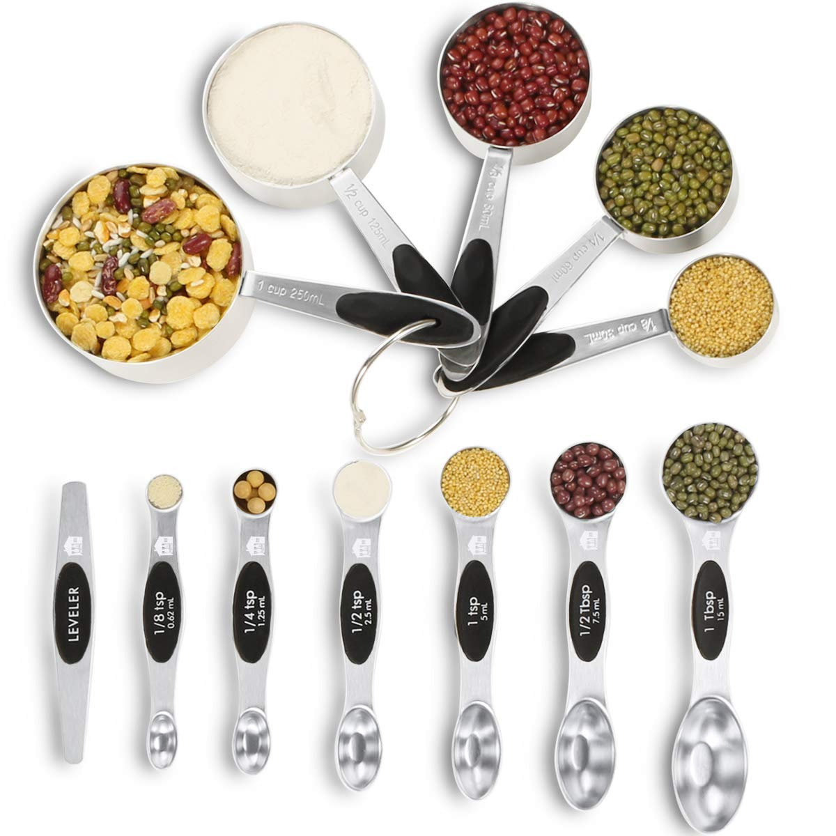 Buy Magnetic Stainless Steel Measuring Spoons Set Yinqag