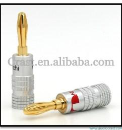 oem 24k gold plated wiring connector banana plug speaker wiring plug [ 1000 x 1000 Pixel ]
