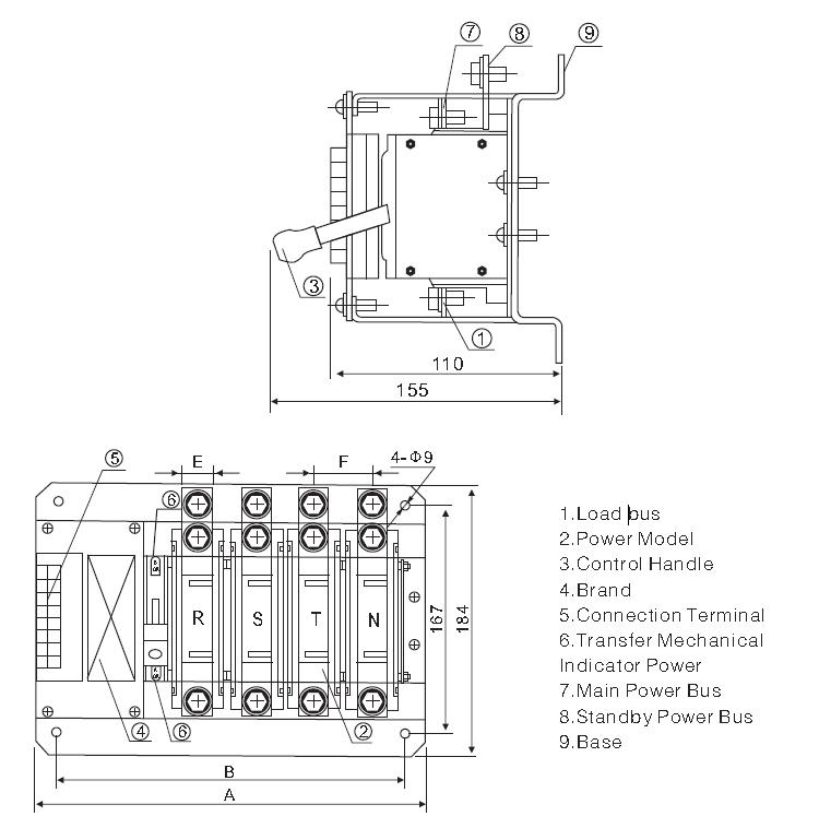 Yes1-125n Type Wiring Solenoid Type Diesel Genset Ats