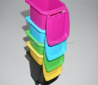 Colored Mini Wheelie Bin Trash Can Pencil Holder Pink ...