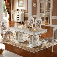 Luxury White Lacquer Silver Gold Stroke Antique French