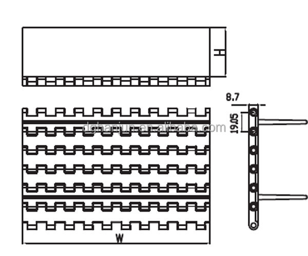 Cleat Conveyor Belt H5935 Types Of Conveyor Belts In China