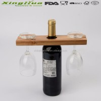 Simple Wooden Wine Rack,Wooden Wine Rack With Wine Glass