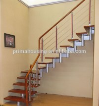 Modern Steel Wood Staircase Indoor Stair Handrails Stair