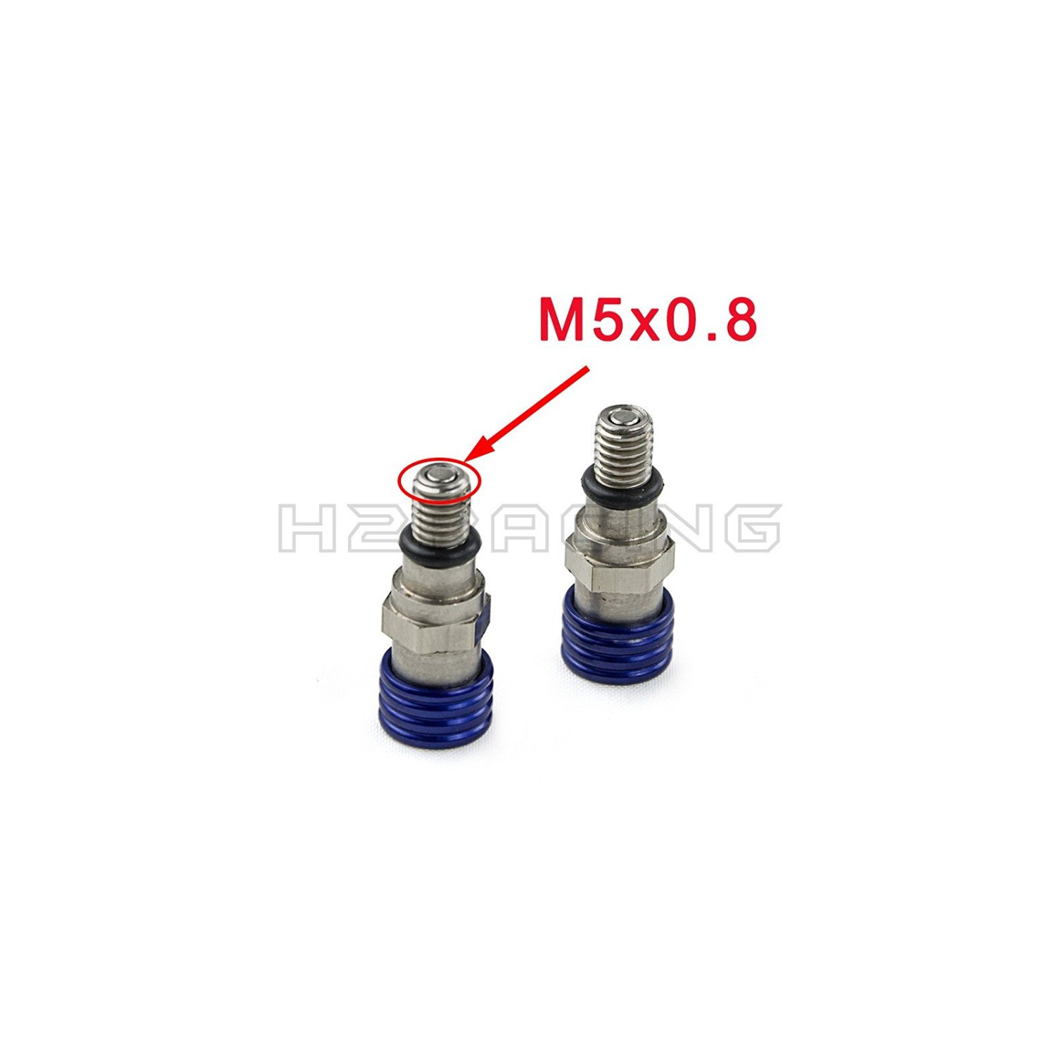 Buy H2RACING M5x0.8mm Fork Bleeders Valves for Yamaha
